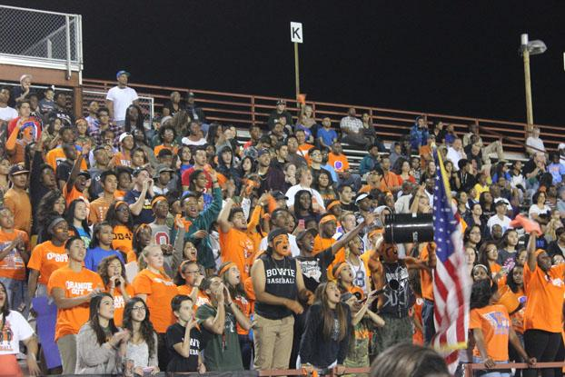 Bowie%27s+Student+Section+at+the+Martin+%22Orange-OUT%22+game.+