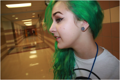 Sara+Smitherman%2C+sophomore%0A%0ASara+has+her+ears+gauged+and+her+hair+dyed.%0A
