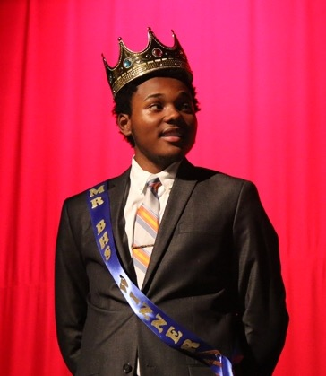 Senior Brandon Kitchin after being crowned Mr. BHS 2015.