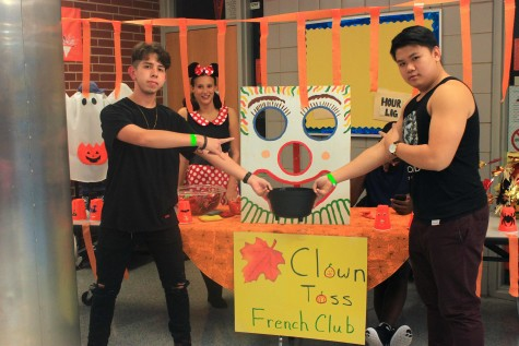 The French club, ran by Mrs. Francis, set up a bean bag toss, which sprung a smile on the faces of all the children that played.