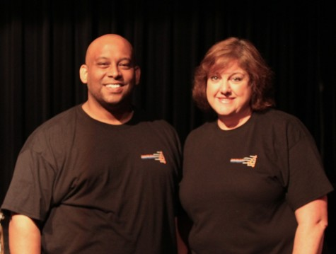The choir directors(Mr. Lobaugh(left), Mrs. Batsel(right) are so proud of every choir.