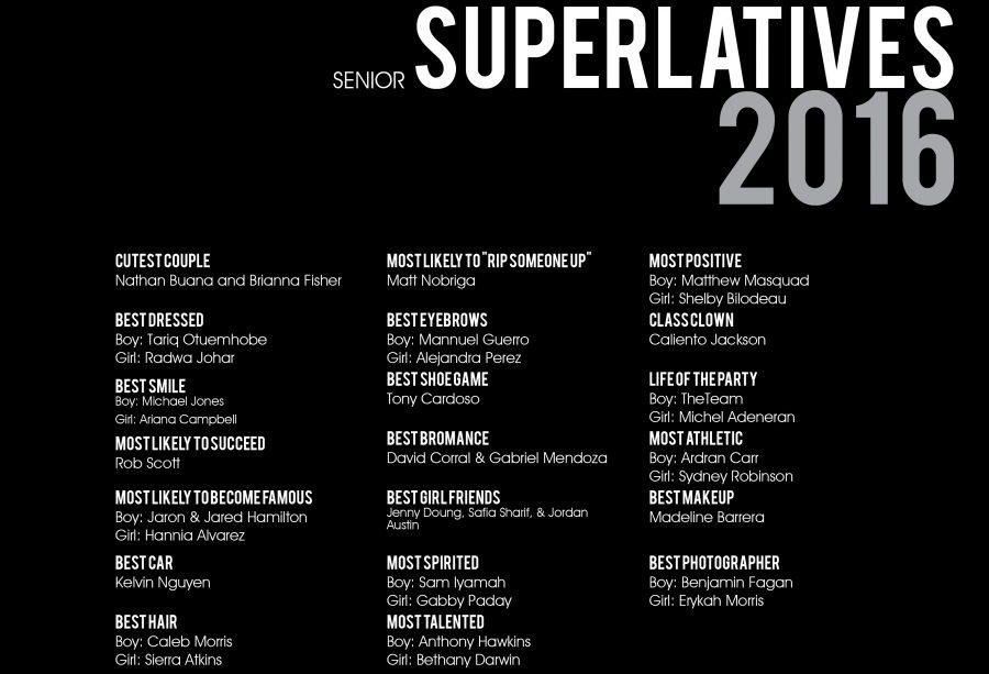 Senior Superlatives 2016