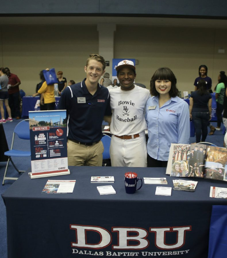 On September 22, Kellen Bienemy met with the admissions counselor from Dallas Baptist University. Kellen is planning to attend the university and play baseball.