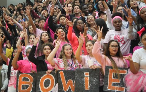 Student Section goes Pink Out