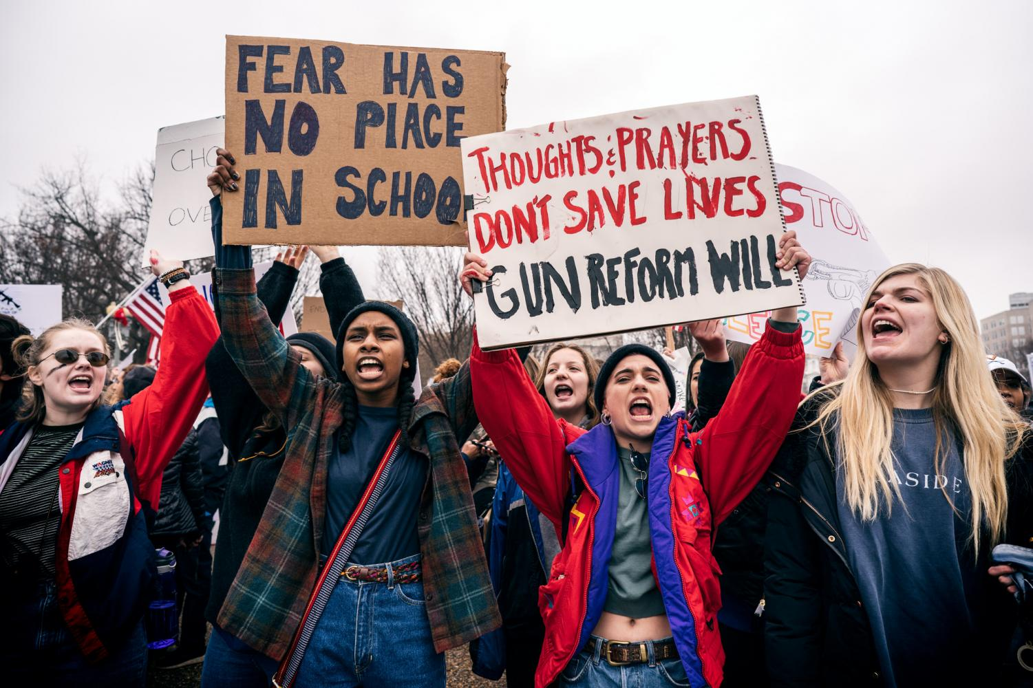 Organized teens for gun reforms.