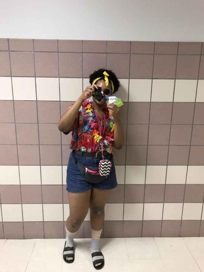 Juianna Getter is dressed up for Tacky tourist day